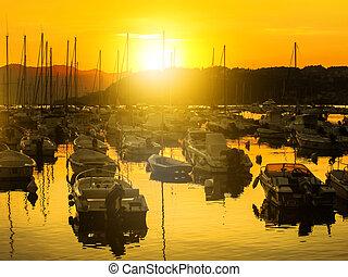 Lerici bay sunset