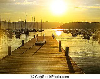 Lerici sunset jetty