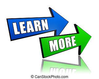 lernen, pfeile, mehr
