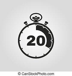 20 symbole minuteur signe chronom tre icon minutes plat medal embl me classique. Black Bedroom Furniture Sets. Home Design Ideas