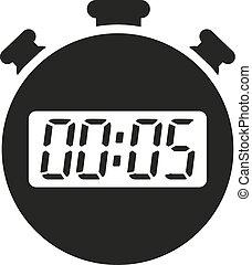 montre 5 minutes minuteur m canique montre isol illustration vecteur 5 minuteur fond. Black Bedroom Furniture Sets. Home Design Ideas