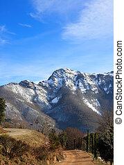 Les Agudes peak. Montseny Natural Park and Biosphere Reserve, near Barcelona, Catalonia, Spain.