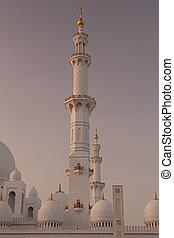 les, blanc, mosquée