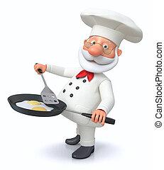 Cuisinier po le ceci secousse illustration cuisinier for Cuisinier sel