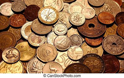 les, devises, de, différent, pays, comme, a, symbole, de, abondance, de, argent.