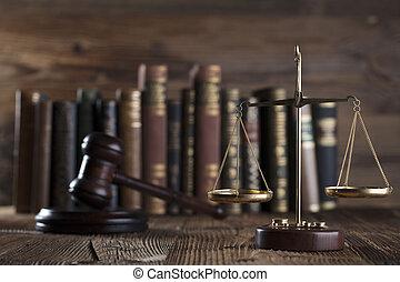 les, droit & loi, concept, arrière-plan.