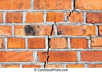mur grand brique fissure large mur grand fissure photographie de stock rechercher. Black Bedroom Furniture Sets. Home Design Ideas