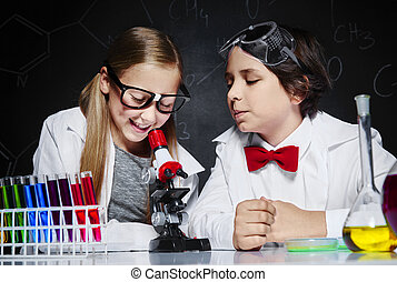 les, geitjes, twee, chemie