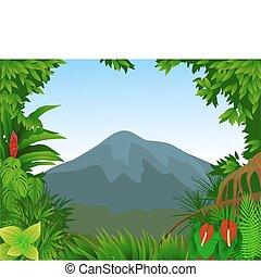 les, grafické pozadí