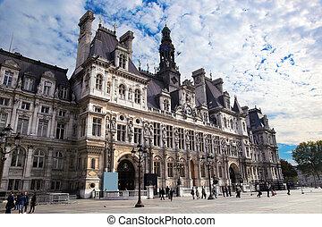 les, hôtel ville, paris, france.