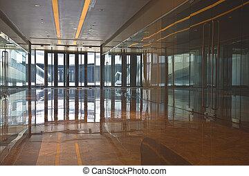 Moderne porte bureau bureau verre transparent