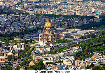 Les Invalides as seen from above.