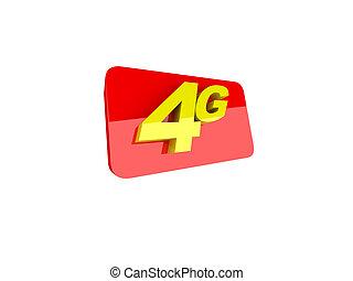 les, lettres, 4g, représenter, les, nouveau, norme, dans, communication sans fil