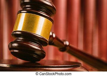 les, marteau, de, a, juge, dans, tribunal
