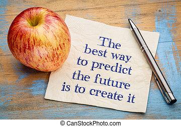 les, mieux, manière, prédire, avenir