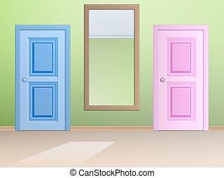 girl nettoyage miroir mignon style girl simple isol vecteurs eps rechercher des. Black Bedroom Furniture Sets. Home Design Ideas