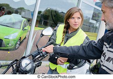 les, motorfiets