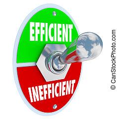 les, mots, efficace, et, inefficace, sur, a, interrupteur à...