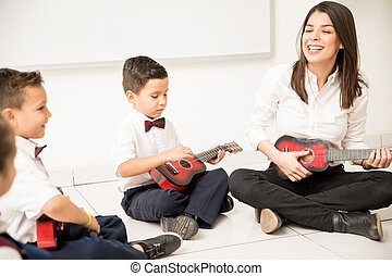 les, muziek, preschool