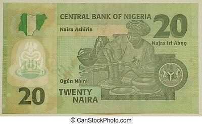 les, naira, est, les, monnaie, de, nigeria., 20, naira