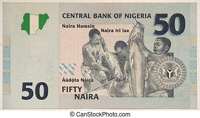 les, naira, est, les, monnaie, de, nigeria., 50, naira