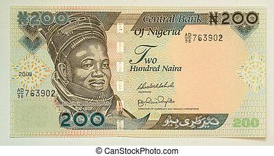 les, naira, est, les, monnaie, de, nigeria.
