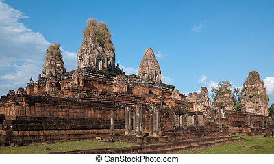 les, pré, rup, temple, dans, siem, récolter, cambodge