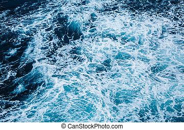 les, rapide, mer