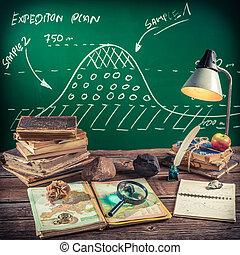 les, school, aardrijkskunde
