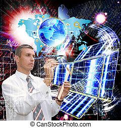 les, technologie, internet