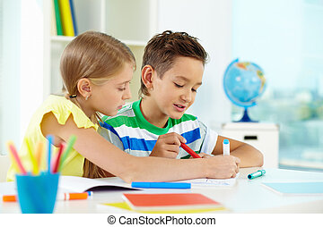 les, tekening