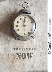 les, temps, est, maintenant, concept