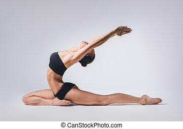 les, yoga, femme