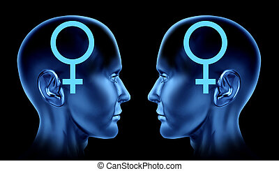 Lesbian And Gay Couple - Couple sexual issues symbol as gay...