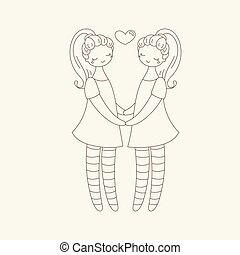 Lesbian couple holding hands. Girls in love.