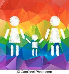 lesbian family with kid - Lesbian family with kid on a...