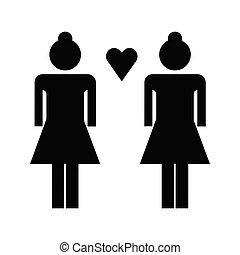 Lesbian flat icon
