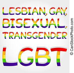 "Lesbian, gay, bisexual, transgender - ""Lesbian, gay,..."