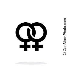 Lesbian icon on white background. Vector illustration.