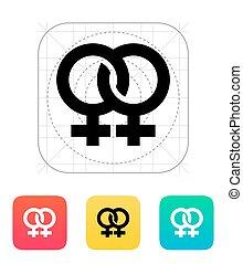 Lesbian icon. Vector illustration.
