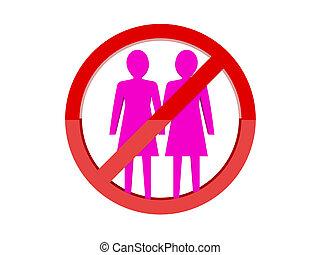 Lesbian not allowed forbidden