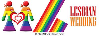 Lesbian Wedding Banner