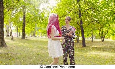 Lesbian wedding. The bride throwing a bouquet