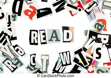 lesen, inschrift