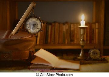 lesen, reise, begriff, freie zeit