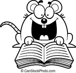 lesende , maus, karikatur