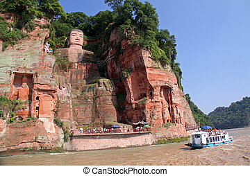 Leshan Giant Budha - One of the world's largest budga statue...
