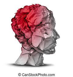 lesión, cabeza