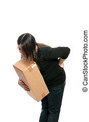 lesión en la espalda