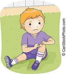 lesione, football